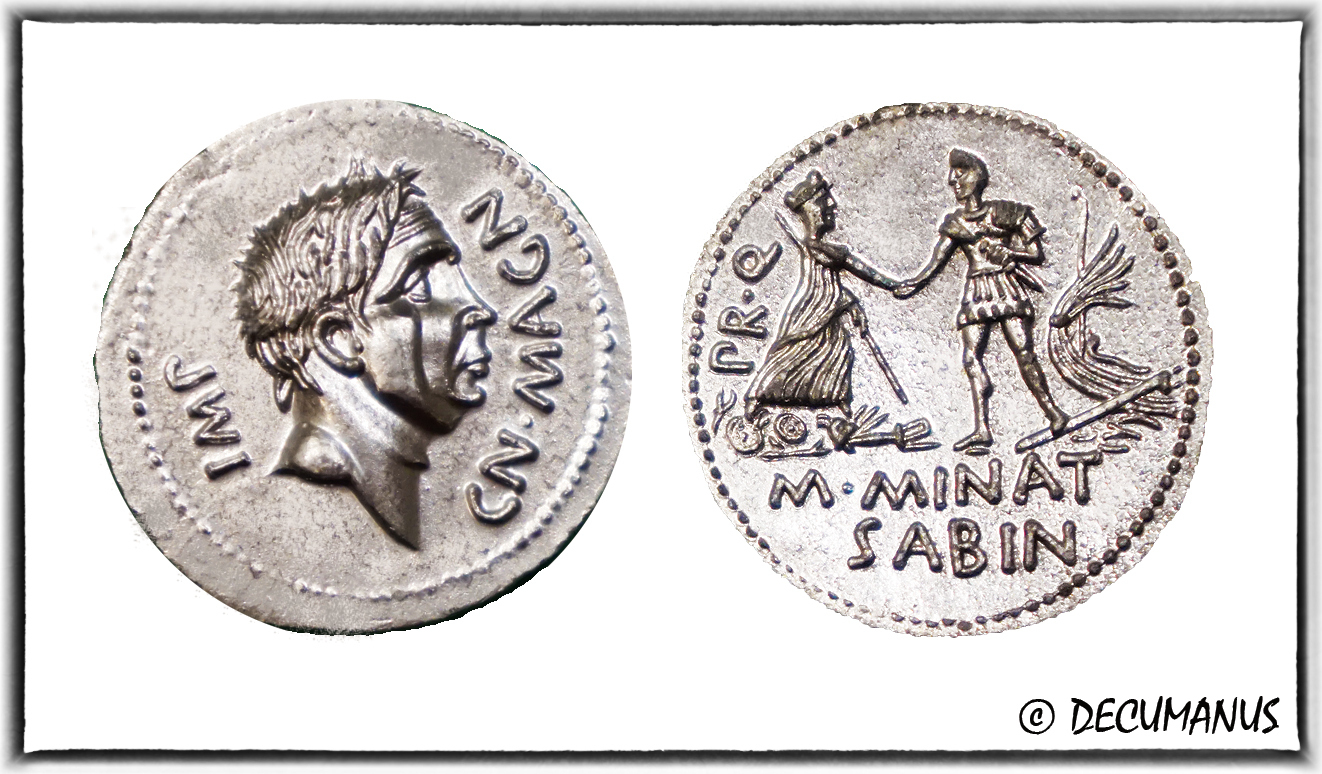DENARIUS OF POMPEY - REPRODUCTION