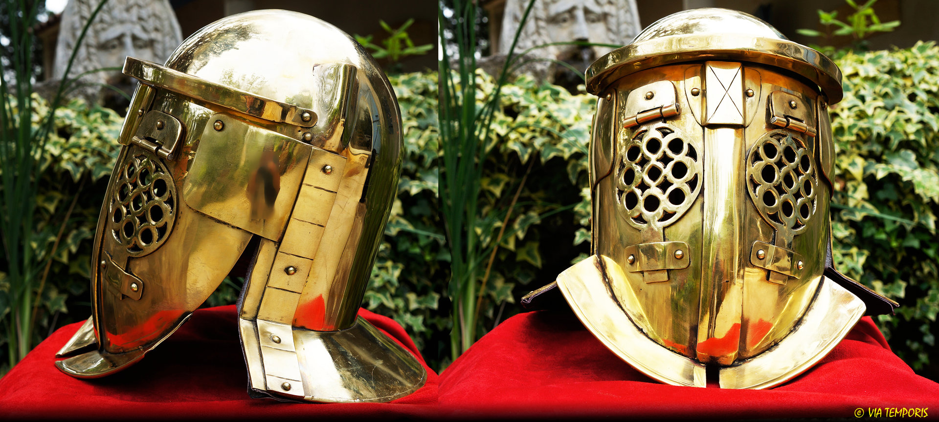 GLADIATOR PROVOCATOR BRASS HELMET