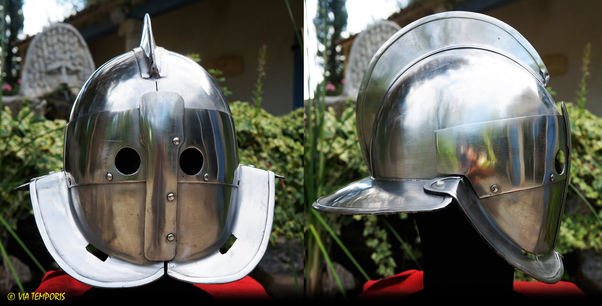 GLADIATOR SECUTOR IRON HELMET
