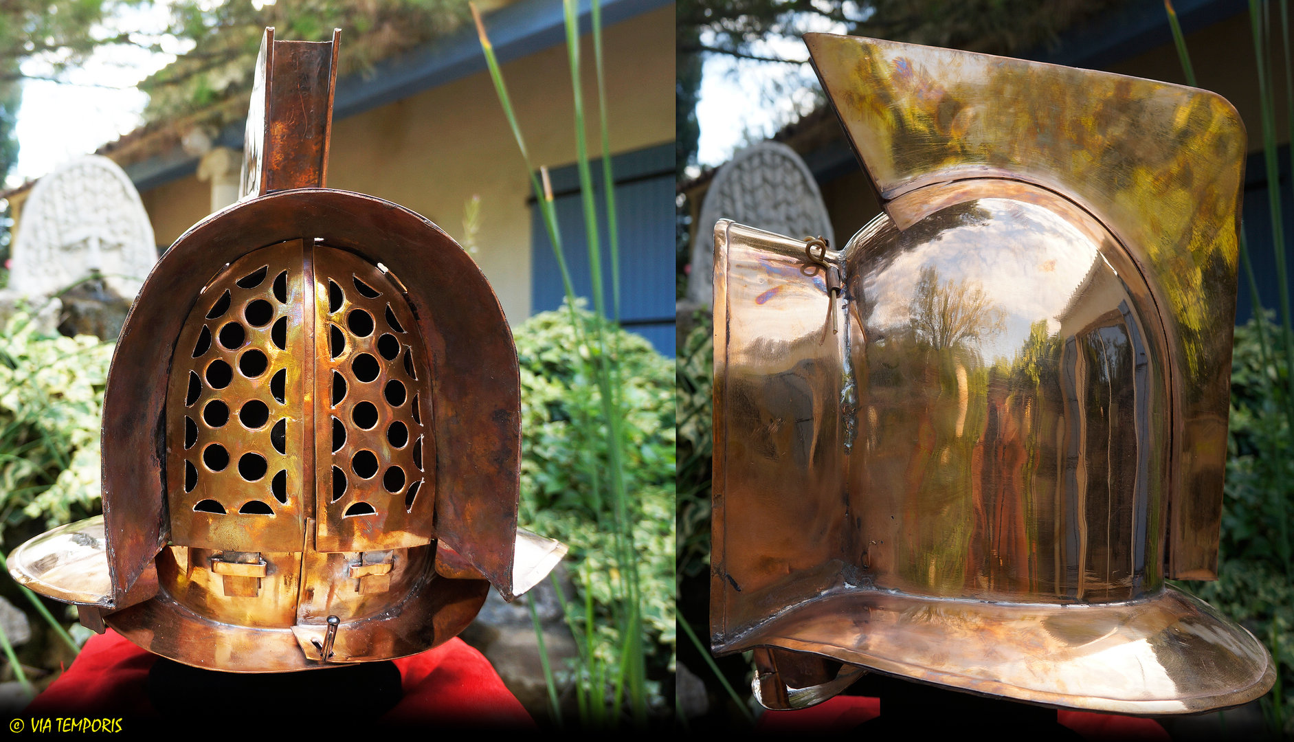 CASQUE DE GLADIATEUR MIRMILLON EN BRONZE