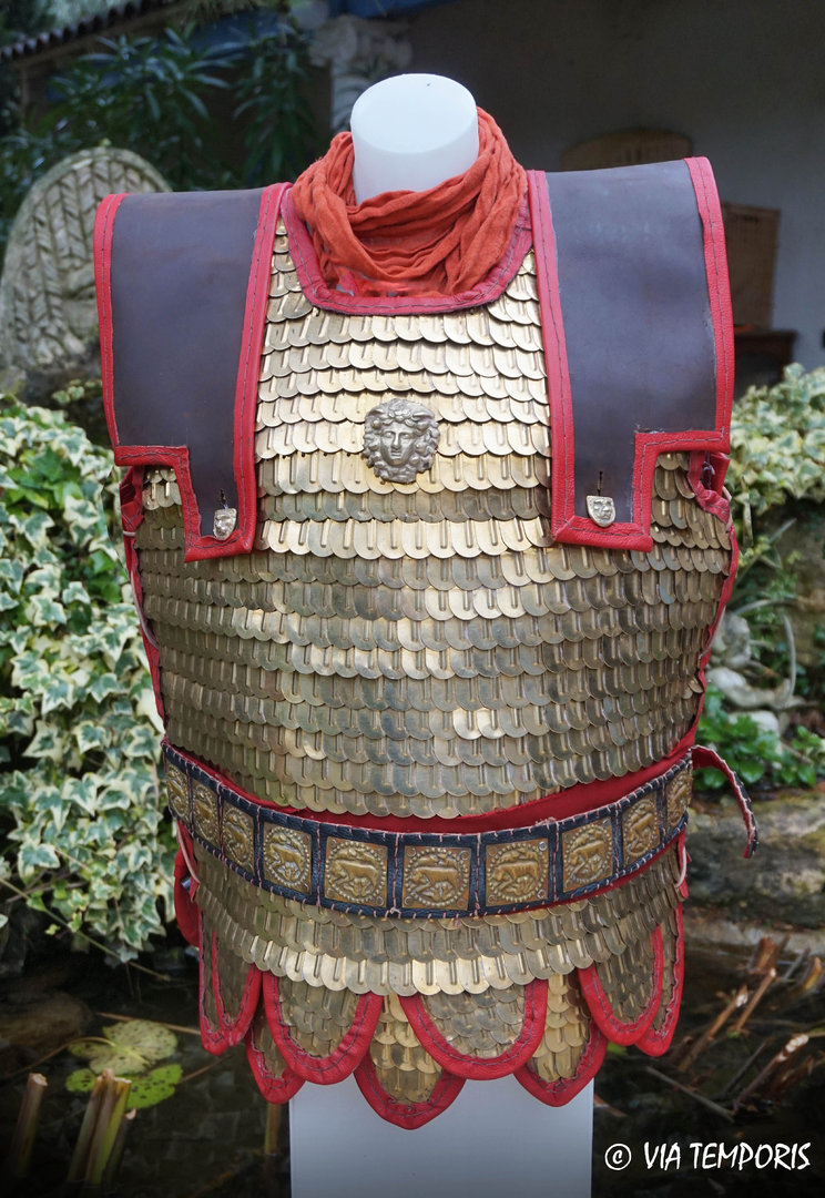 ROMAN ARMOUR - LORICA SQUAMATA WITH LARGE BRASS SCALES