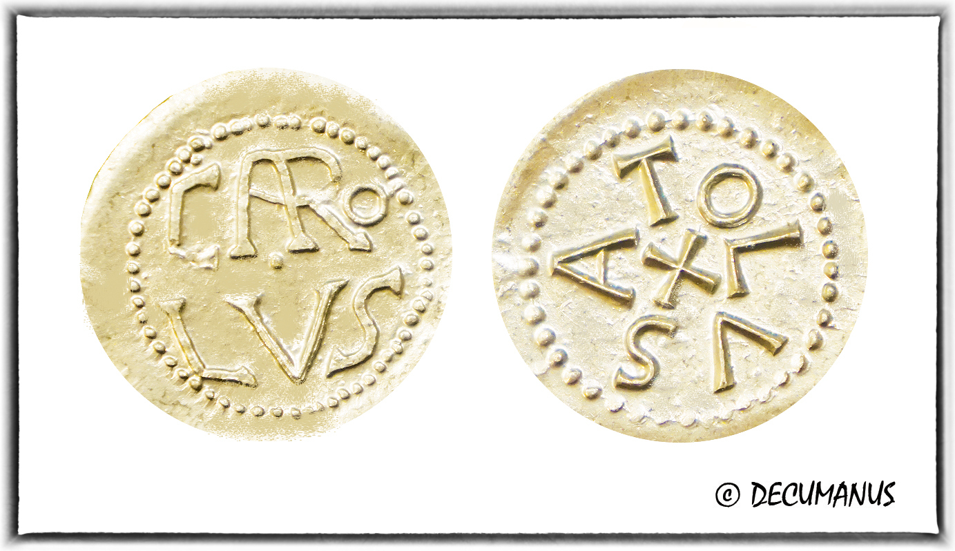 DENIER OF CHARLEMAGNE OF TOULOUSE - REPRODUCTION