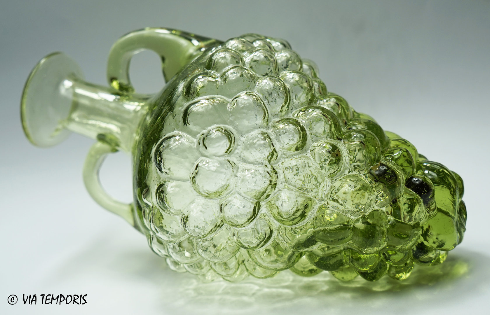 GALLO-ROMAN GLASS - BUNCH OF GRAPES SHAPED BOTTLE (green)