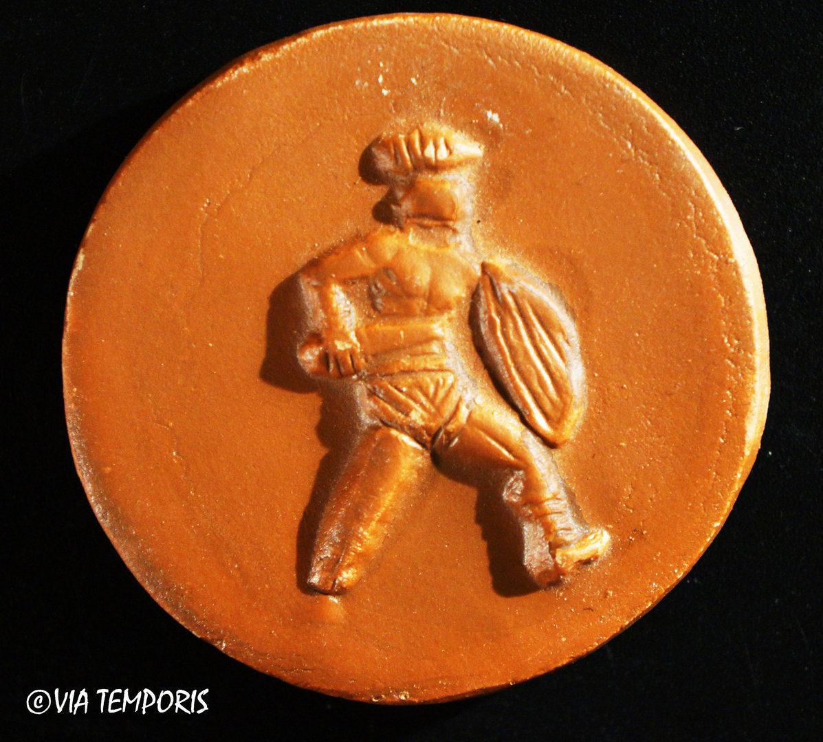 MAGNET IN TERRA SIGILLATA FROM SOUTHERN GAUL - GLADIATORS DECORATION I