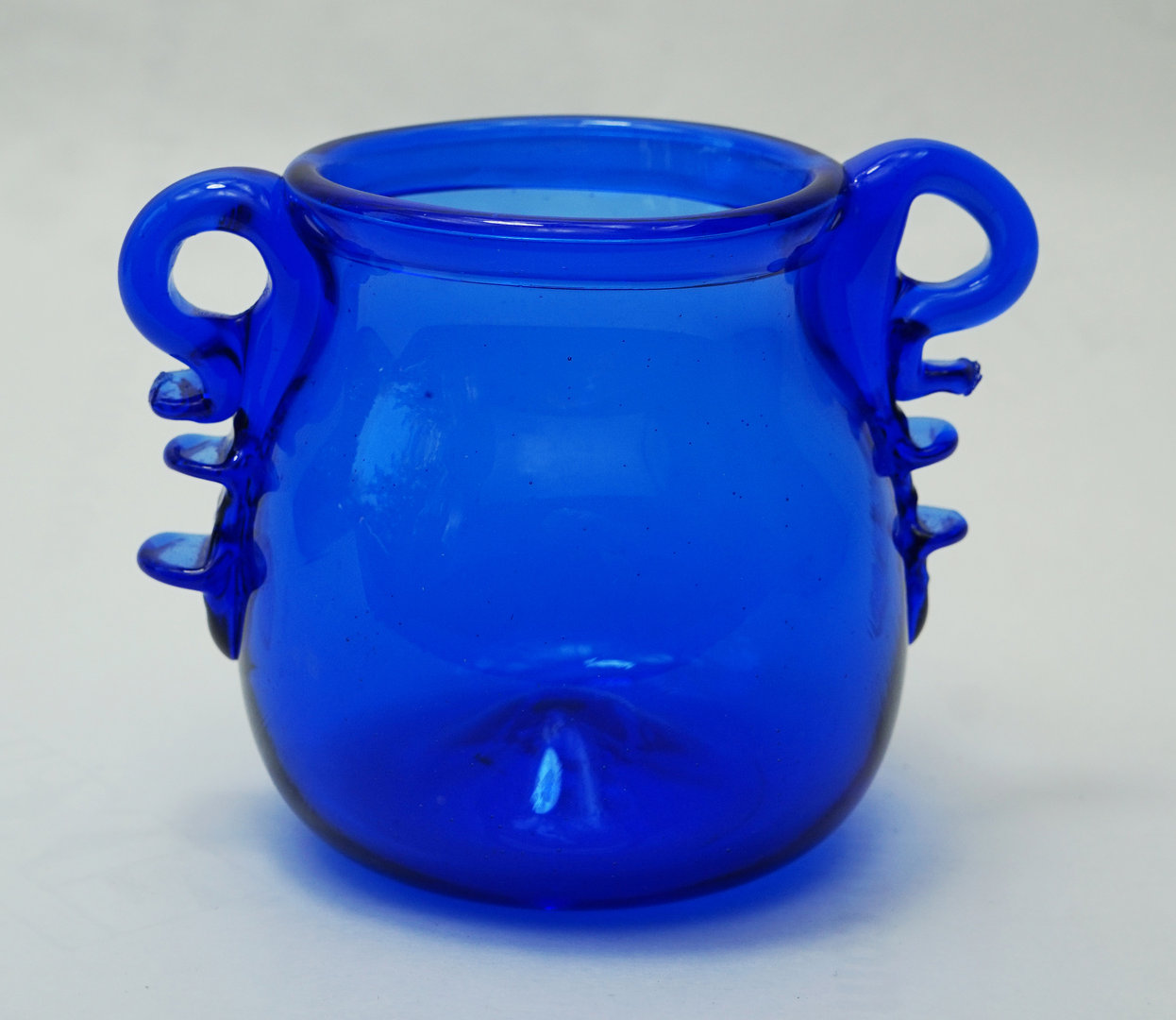 VERRE GALLO-ROMAIN - ARYBALLE  (Bleu roi)