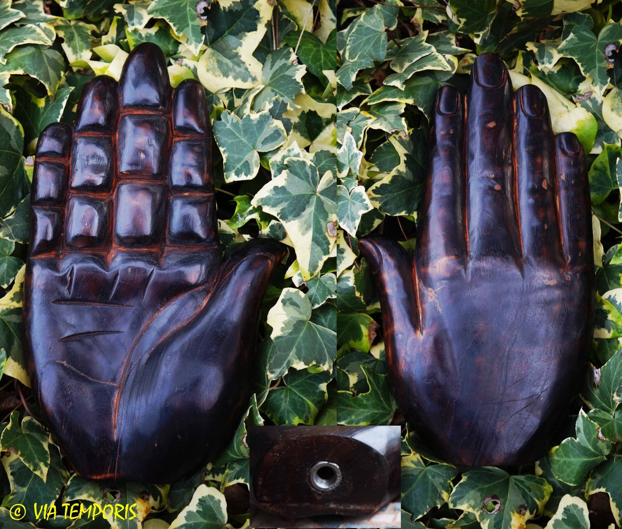 HAND OF ROMAN BANNER IN WAXED WOOD (MANUS FOR SIGNUM)