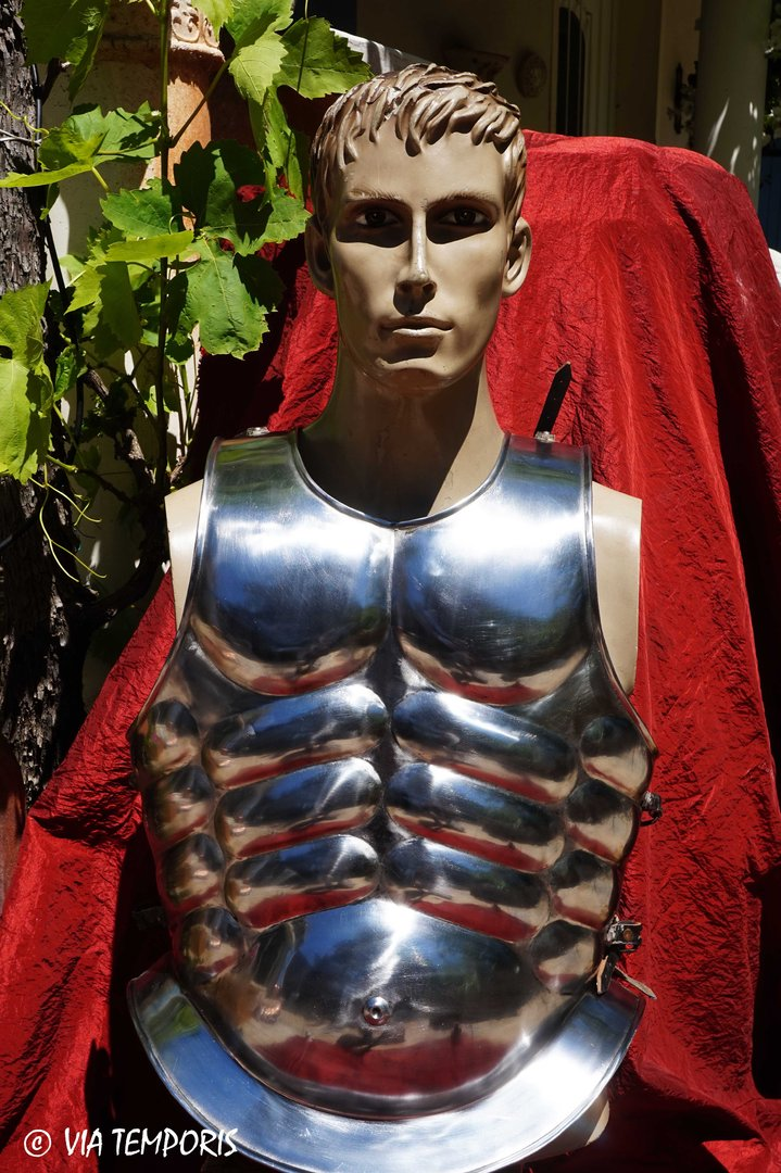 GREEK OR ROMAN MUSCULATA CUIRASS IN STEEL
