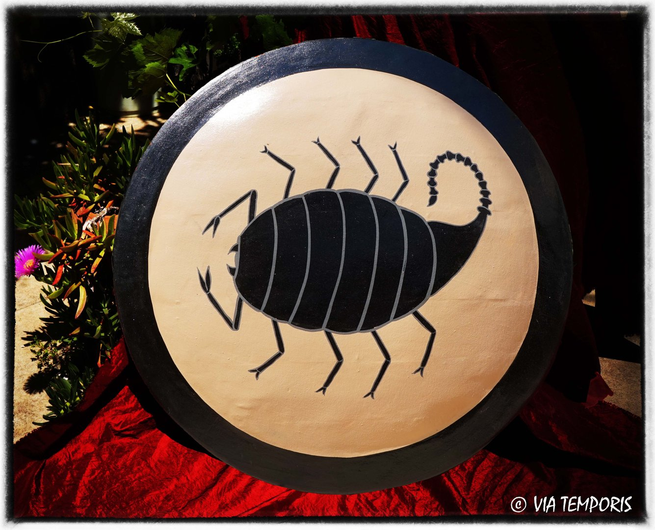 GREEK SHIELD - SCORPIO DECORATION