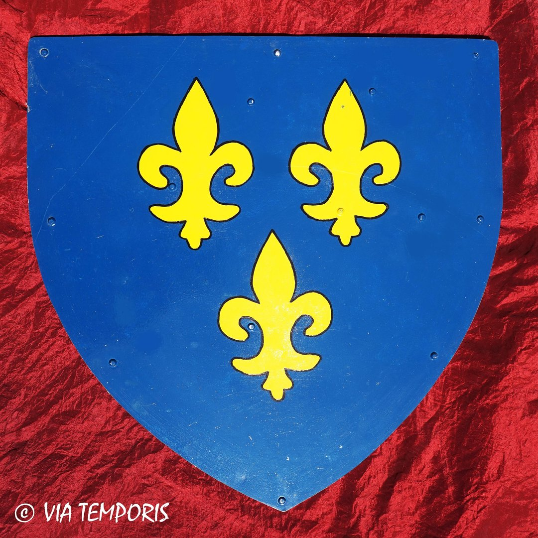 MEDIEVAL SHIELD - ROYAL FLEURS DE LIS I