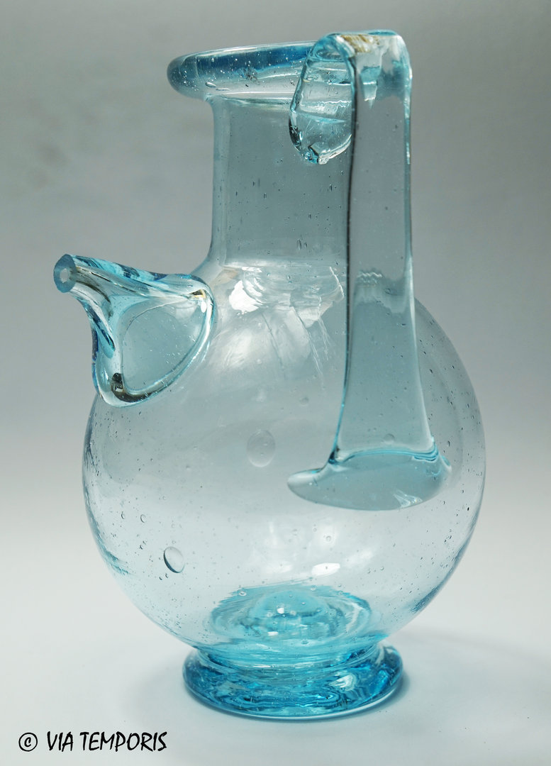 GALLO-ROMAN GLASSWARE - SMALL BLUE BABY BOTTLE