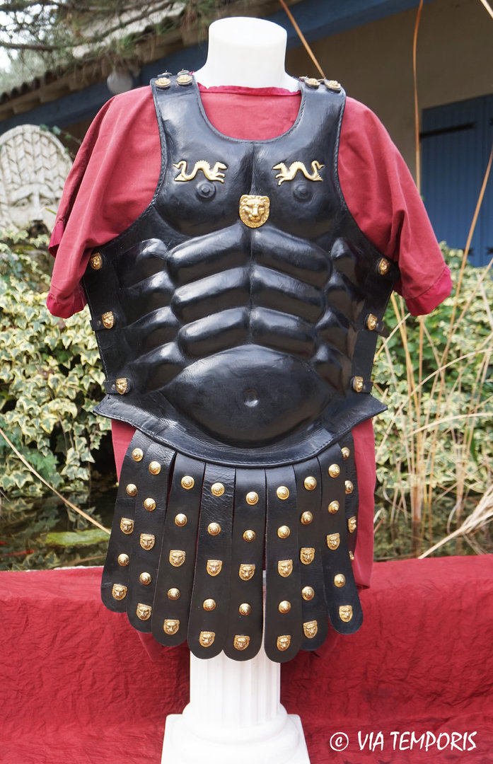 GREEK OR ROMAN MUSCULATA CUIRASS IN LEATHER