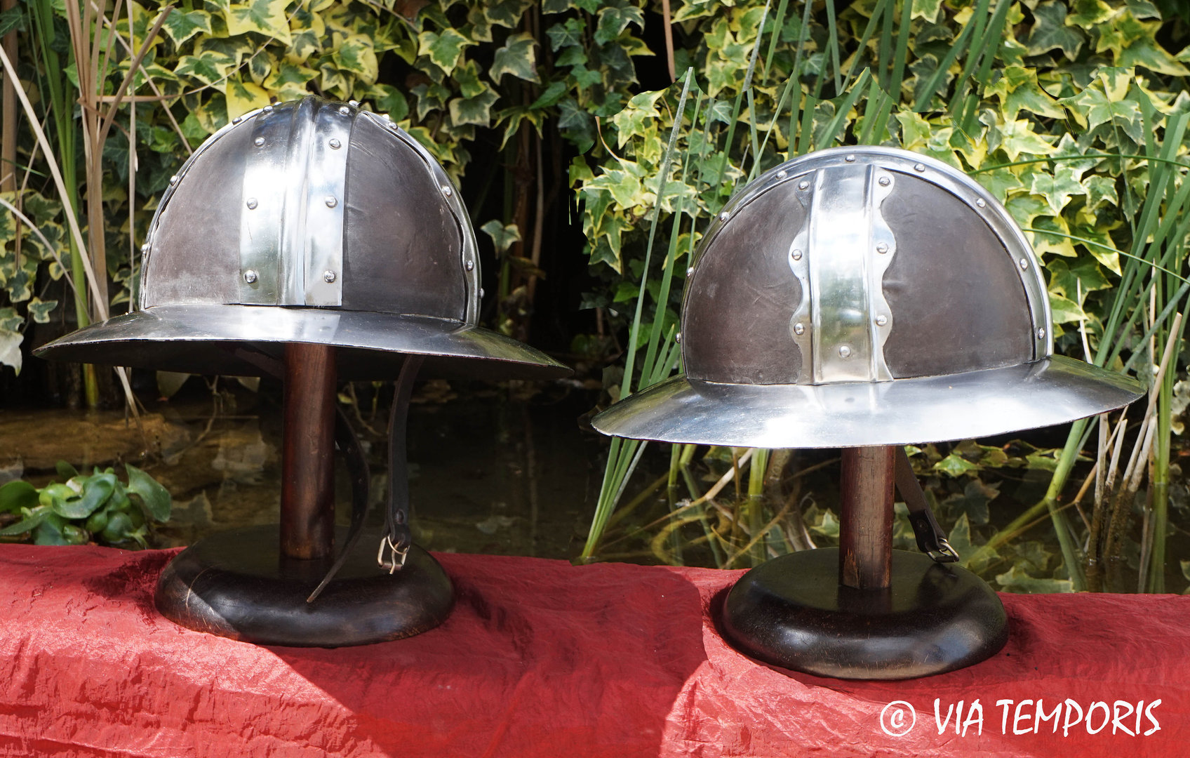 KETTLE HAT HELMET (leather top)