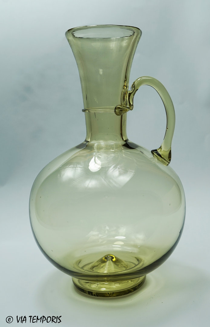 GALLO-ROMAN GLASSWARE - FLASK WITH ONE HANDLE