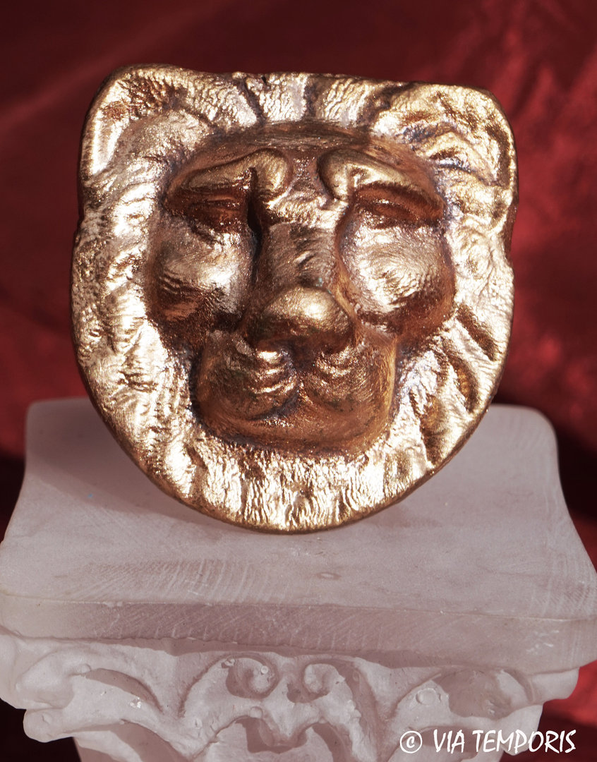 BRONZE DECORATIVE PART - LION HEAD