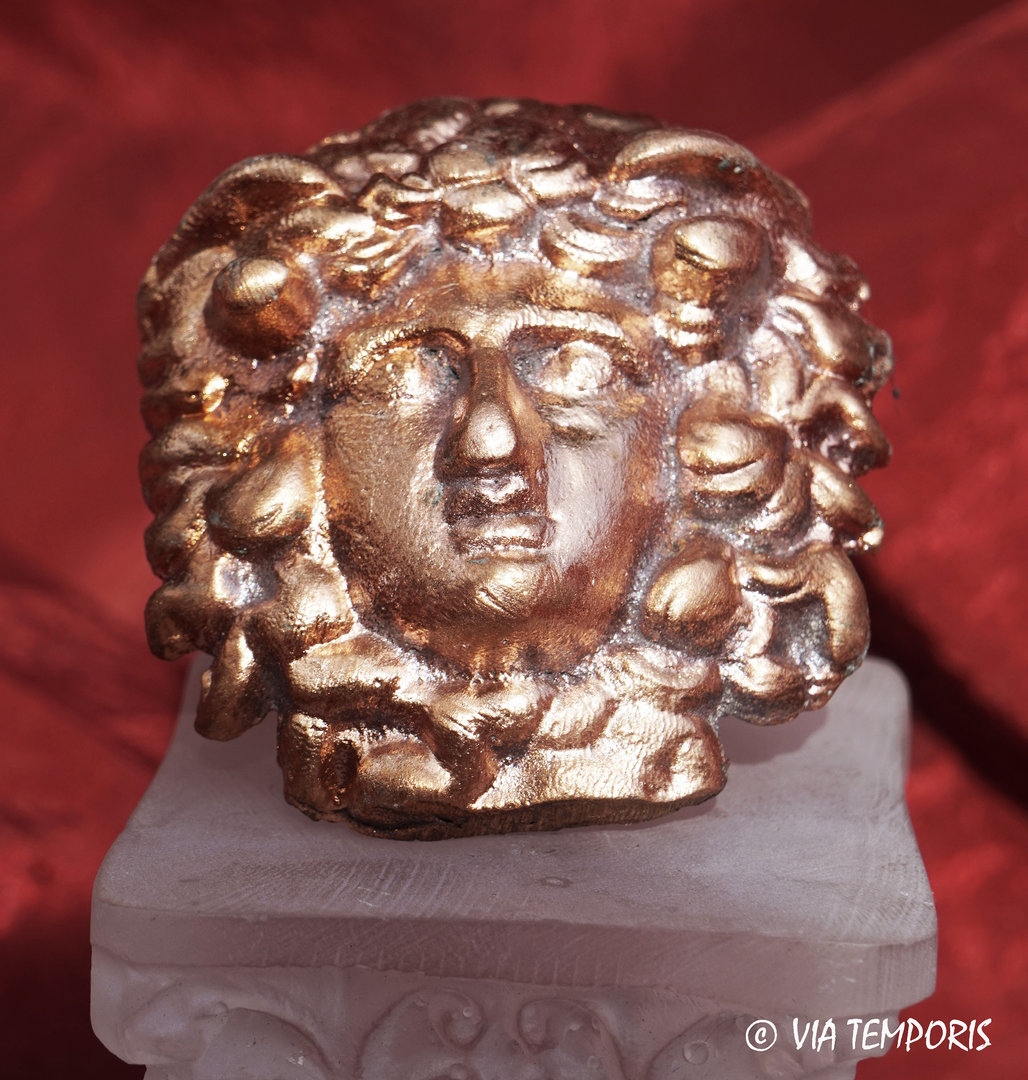 BRONZE DECORATIVE PART - MEDUSE HEAD