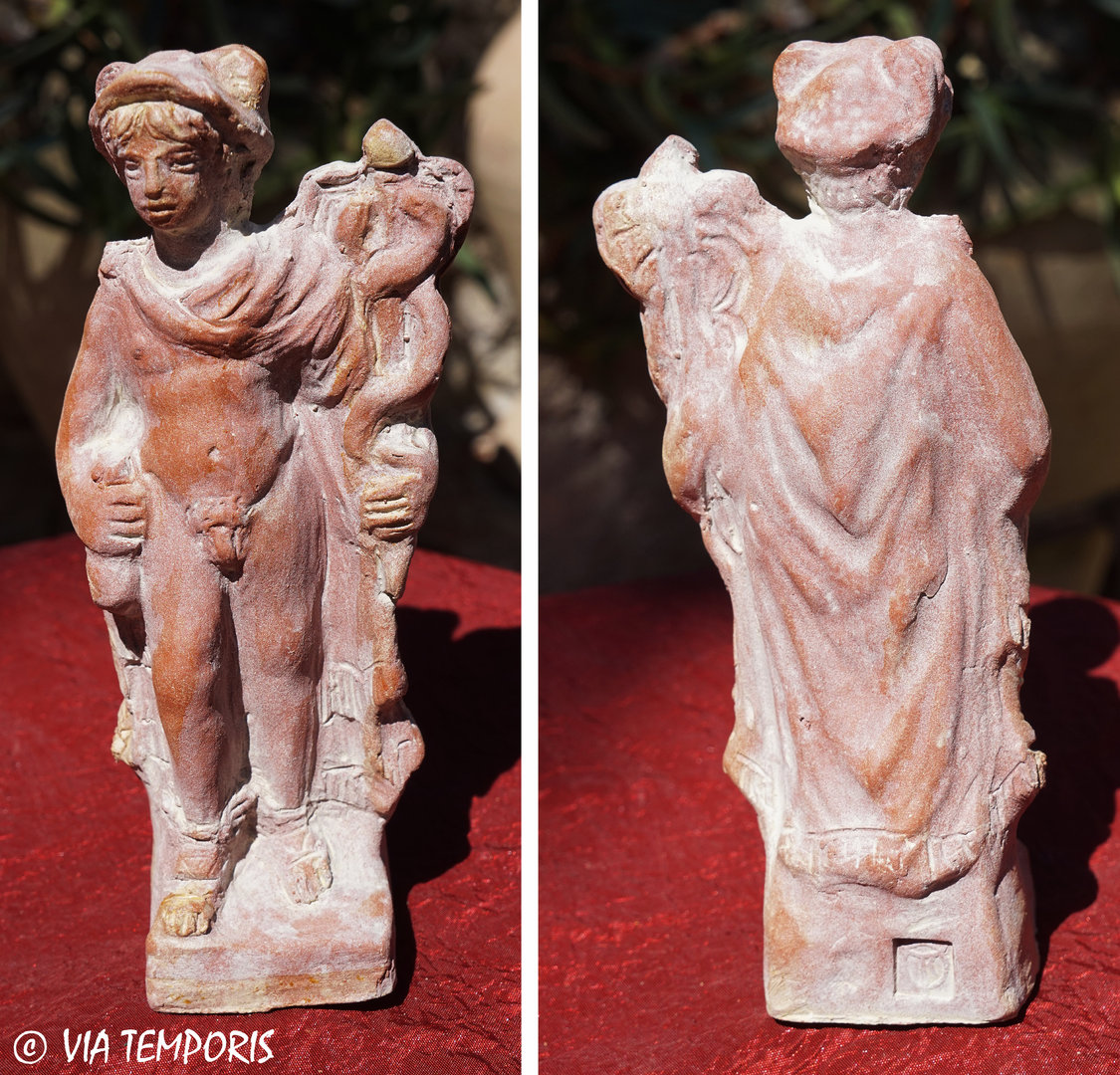 GALLO-ROMAN CERAMIC - GOD MERCURY STATUETTE