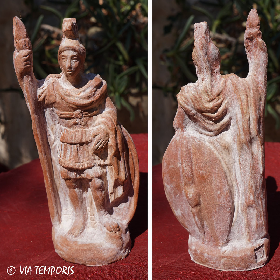 GALLO-ROMAN CERAMIC - GOD MARS STATUETTE