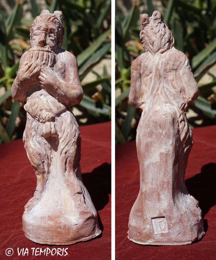 Ceramique Gallo Romaine Statuette Du Dieu Pan