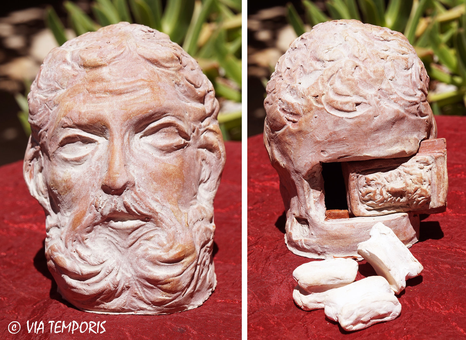 GALLO-ROMAN CERAMIC - OSSICLES BOX HERCULE'S HEAD