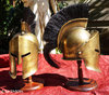 MINI HELMET OF GREEK SPARTAN MOVIE 300 WITH CREST - BRONZE COLORED