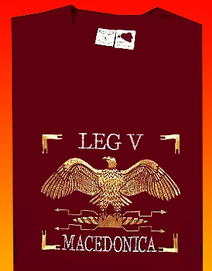 T-SHIRT OF ROMAN LEGIONS - LEG V MACEDONICA