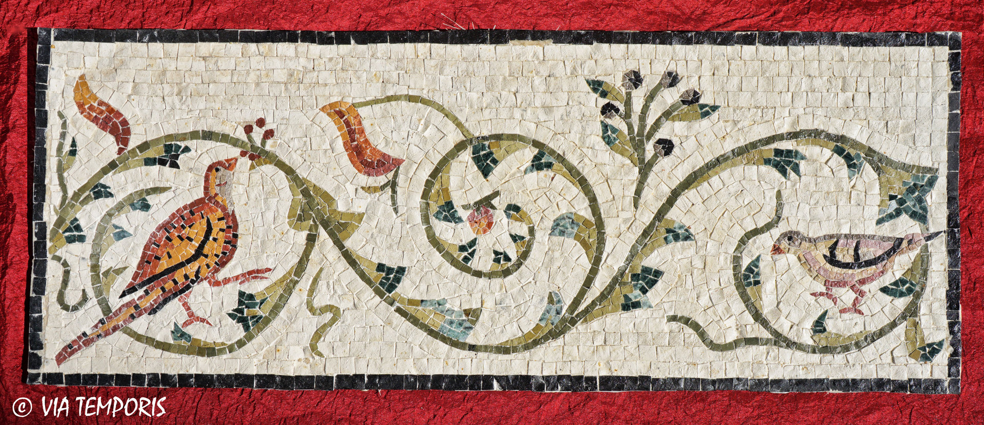ROMAN MOSAIC - FRIEZE WITH BIRDS