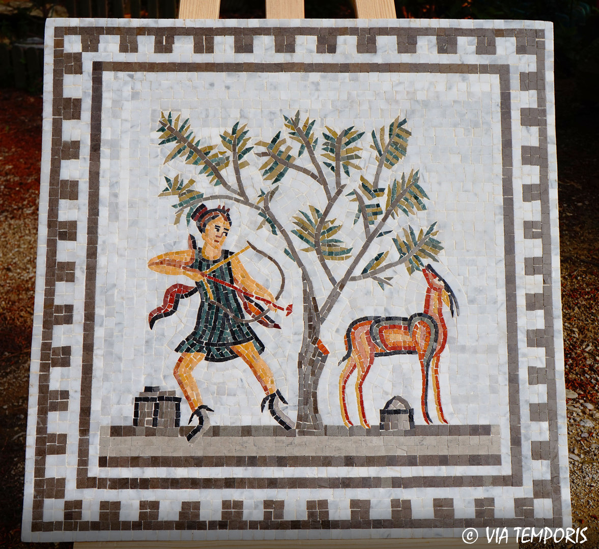 ROMAN MOSAIC WITH DIANA HUNTRESS - BARDO MUSEUM - TUNISIA VIA