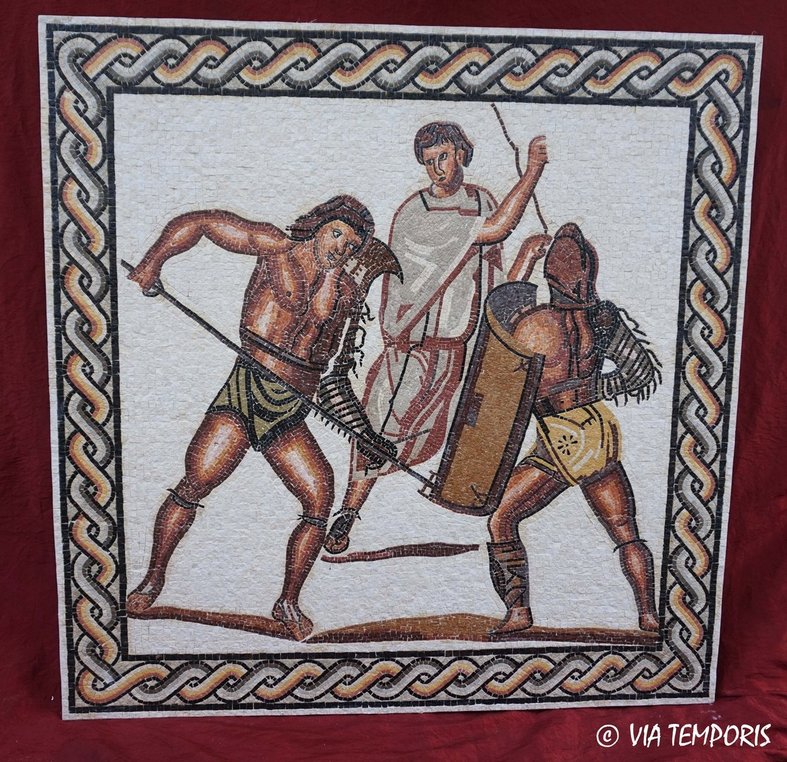 ROMAN MOSAIC - GLADIATORS FIGHT OF NENNIG I