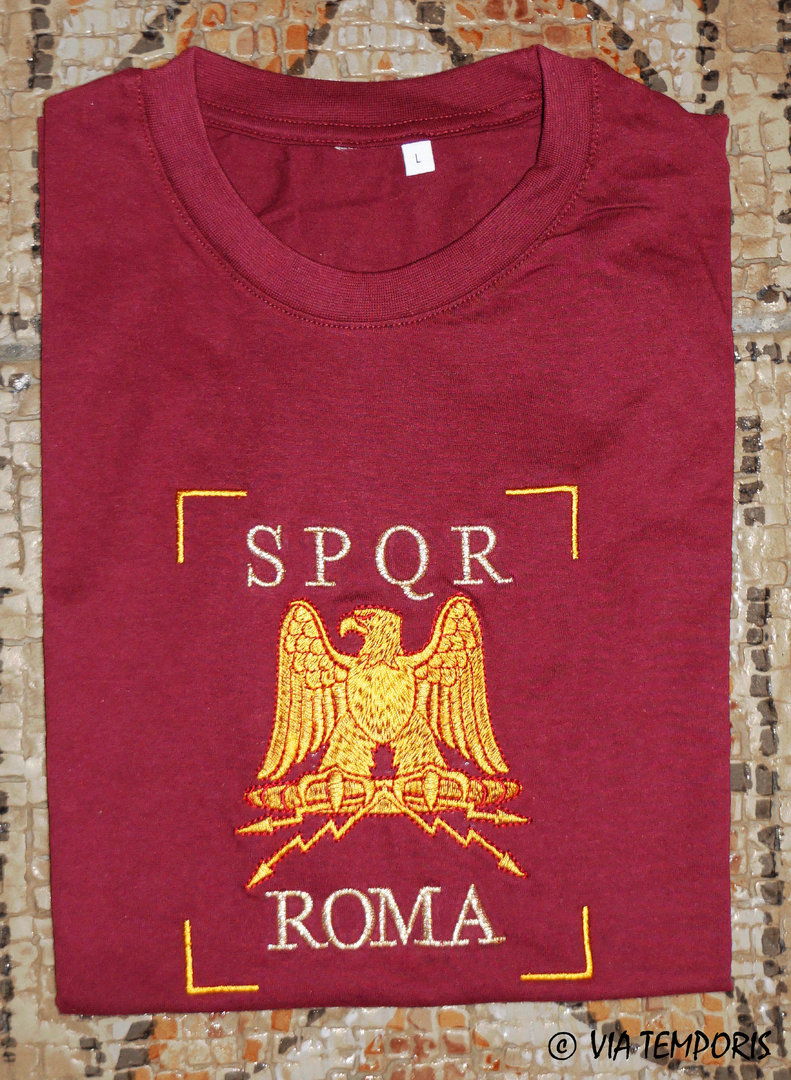 T-SHIRT IMPERIAL EAGLE SPQR ROMA