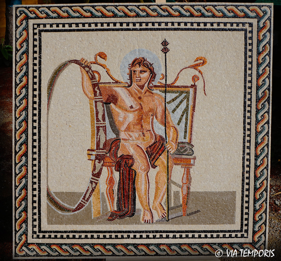 ROMAN MOSAIC - MOSAIC WITH THE GOD AION OF ARLES