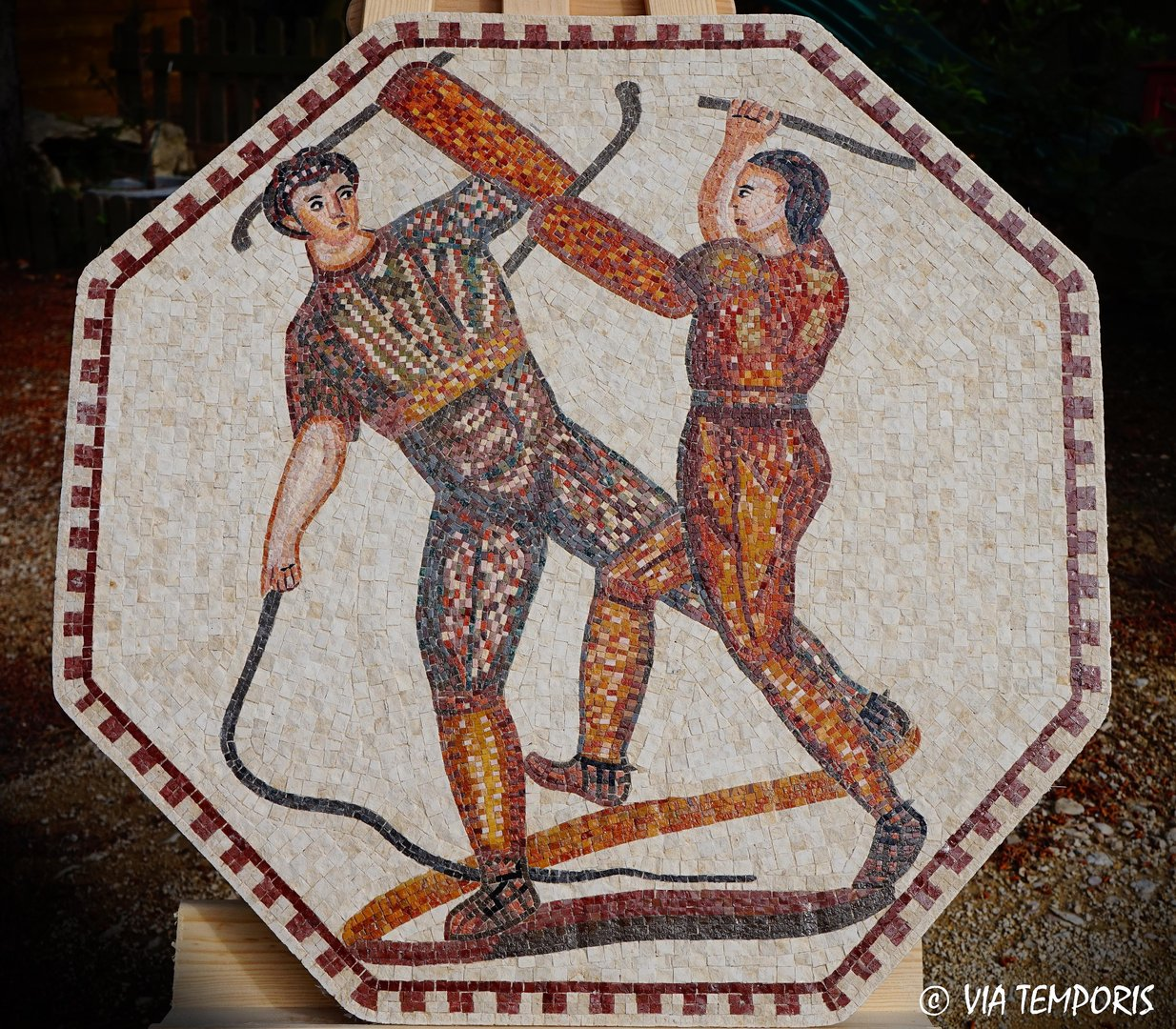 ROMAN MOSAIC - GLADIATORS FIGHT OF NENNIG II