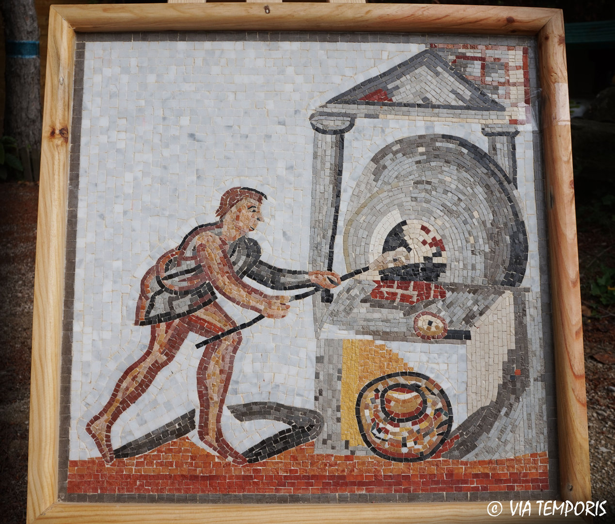ROMAN MOSAIC - RUSTIC CALENDAR OF ST-ROMAIN-EN-GAL - JANUARY BREAD OVEN