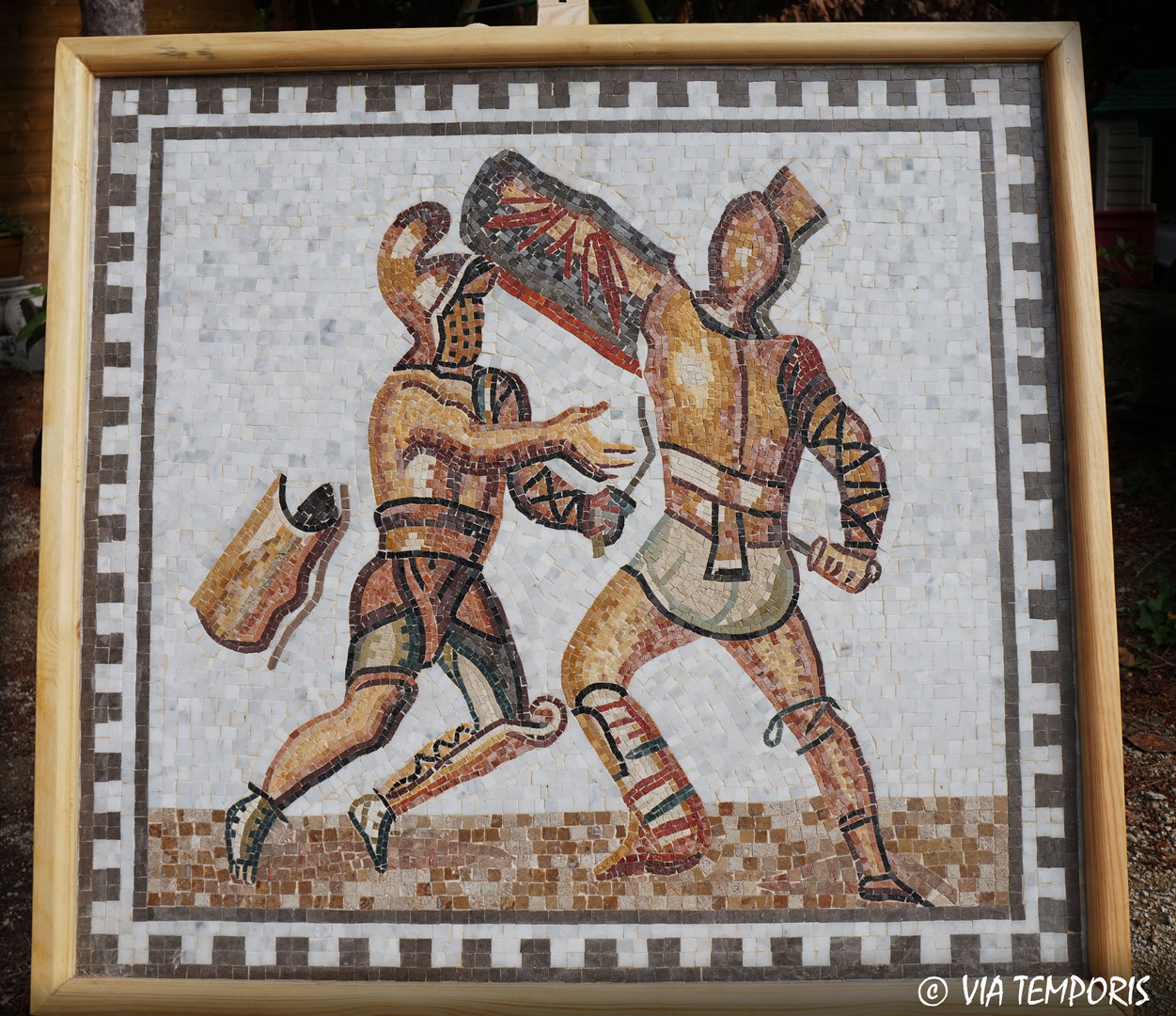 ROMAN MOSAIC - GLADIATOR'S FIGHT OF BAD KREUZNACH