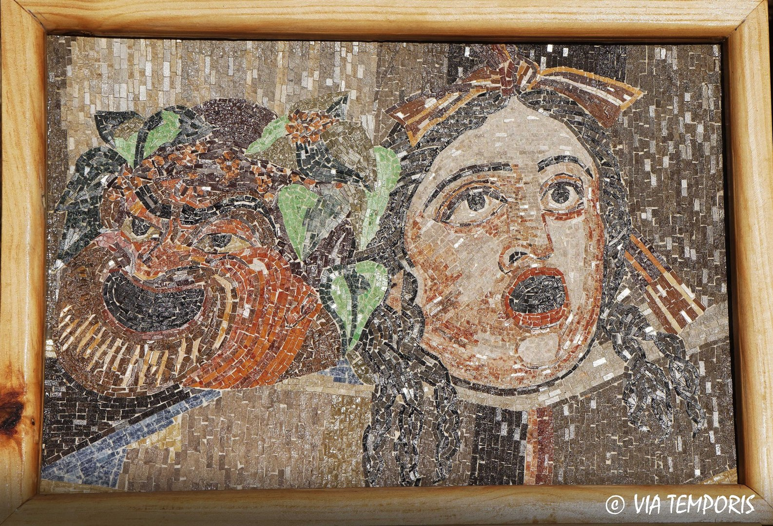 ROMAN MOSAIC - THEATER MASKS