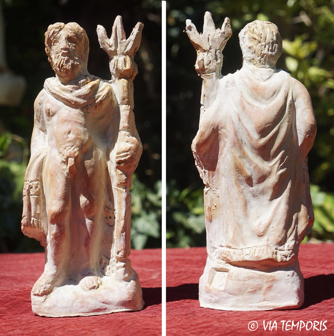 GALLO-ROMAN CERAMIC - GOD NEPTUNE STATUETTE