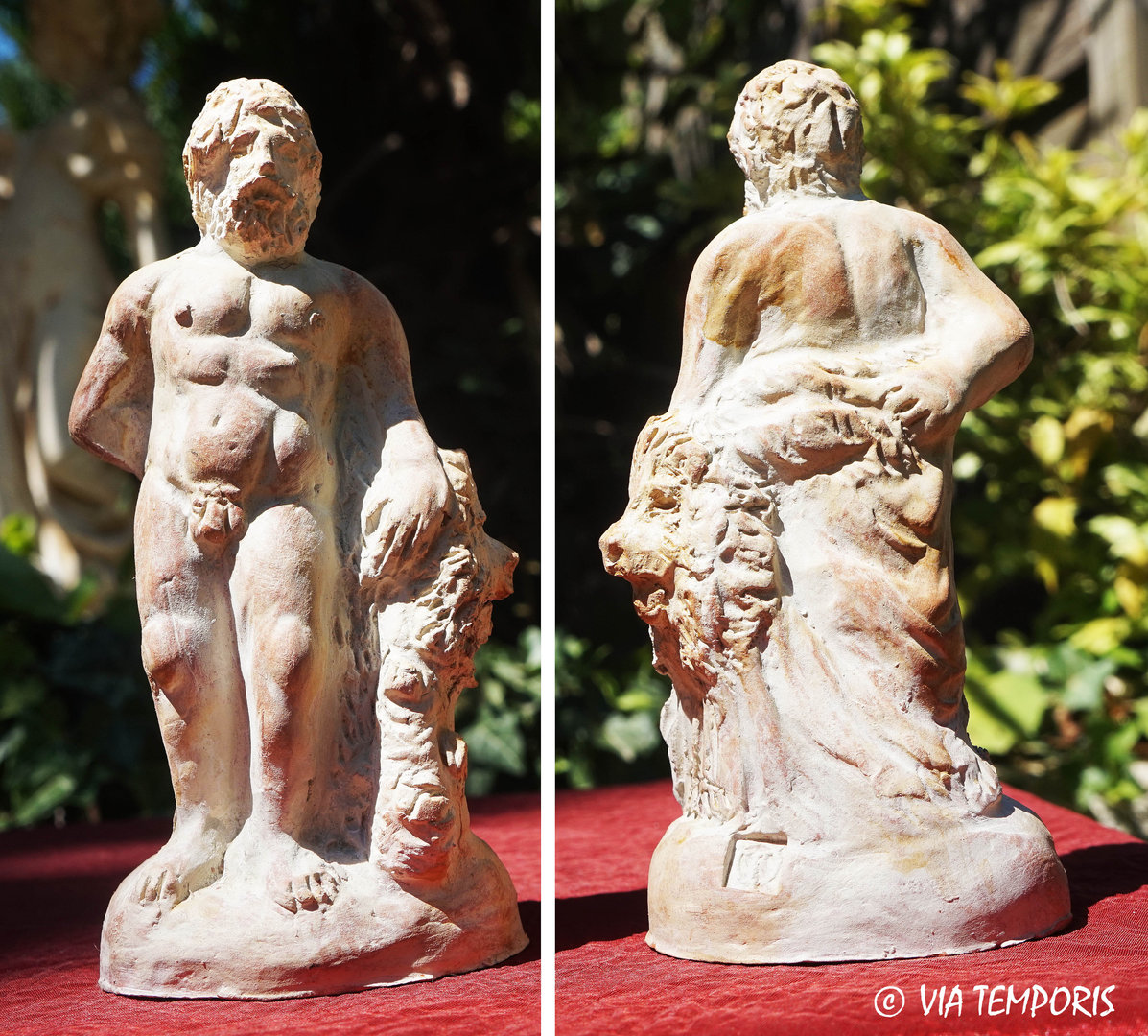 GALLO-ROMAN CERAMIC - GOD HERCULES STATUETTE