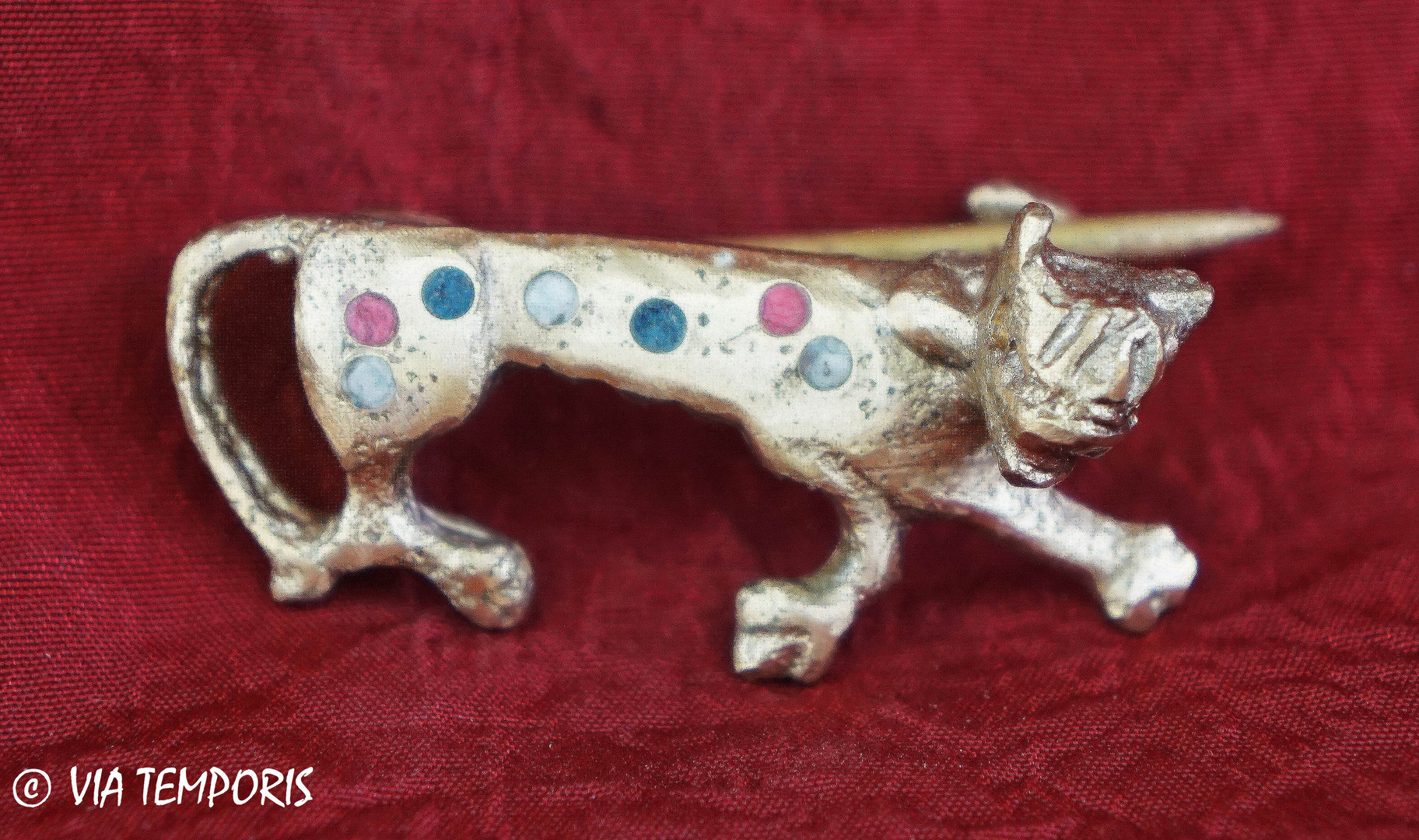 ANCIENT JEWERLY - FIBULA WITH PANTHER