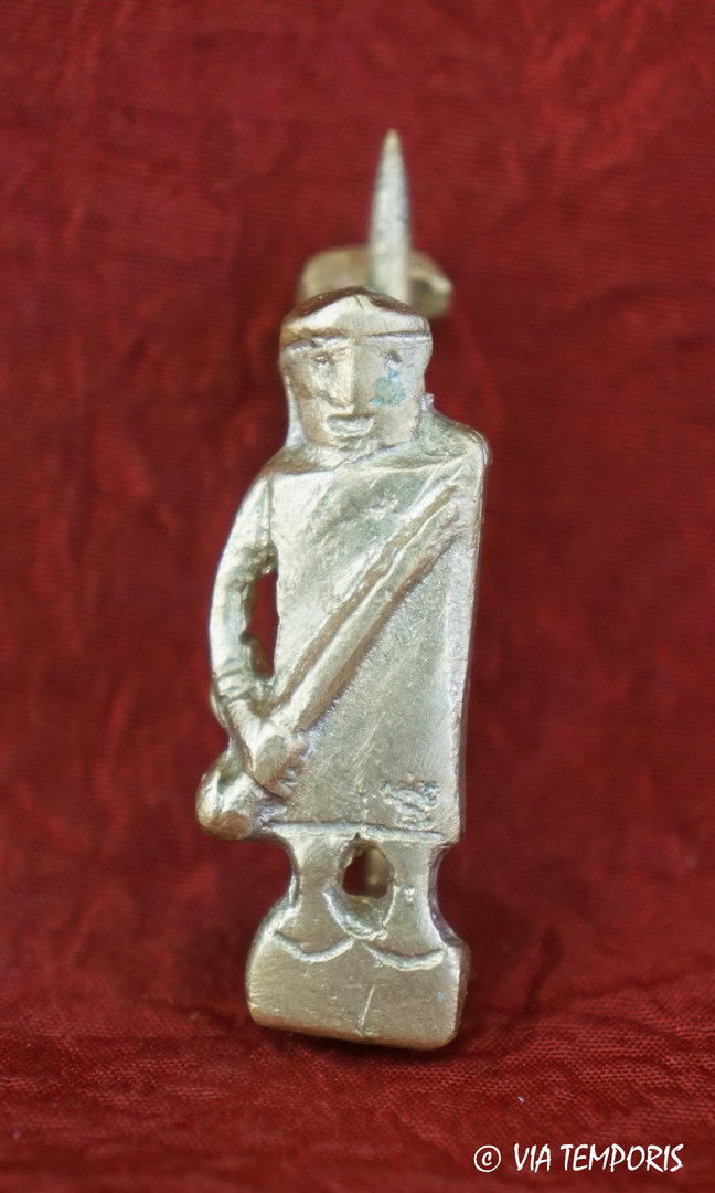 ANCIENT JEWERLY - FIBULA WITH GLADIATOR