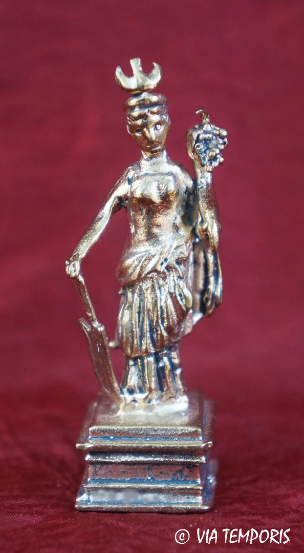 GALLO-ROMAN BRONZE - LITTLE STATUETTE OF FORTUNA GODDESS