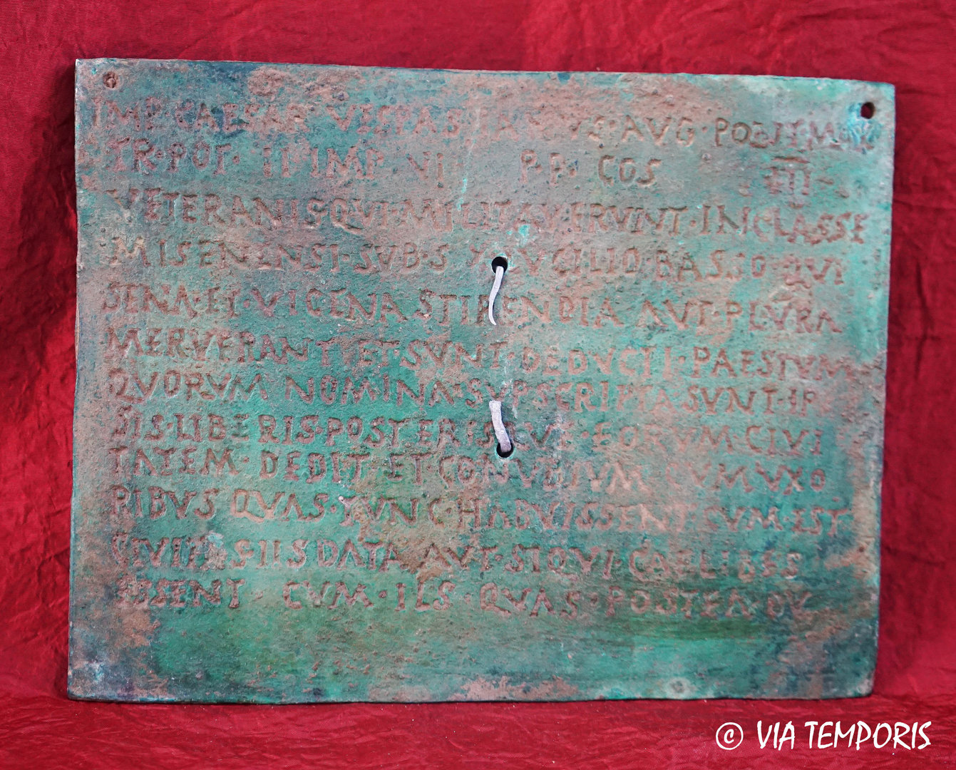 ROMAN LEGIONARY DIPLOMA WITH GREEN PATINA