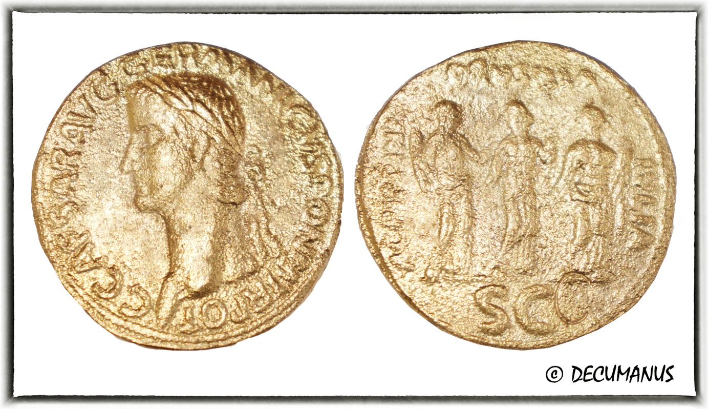BRONZE SESTERCE OF CALIGULA - REPRODUCTION