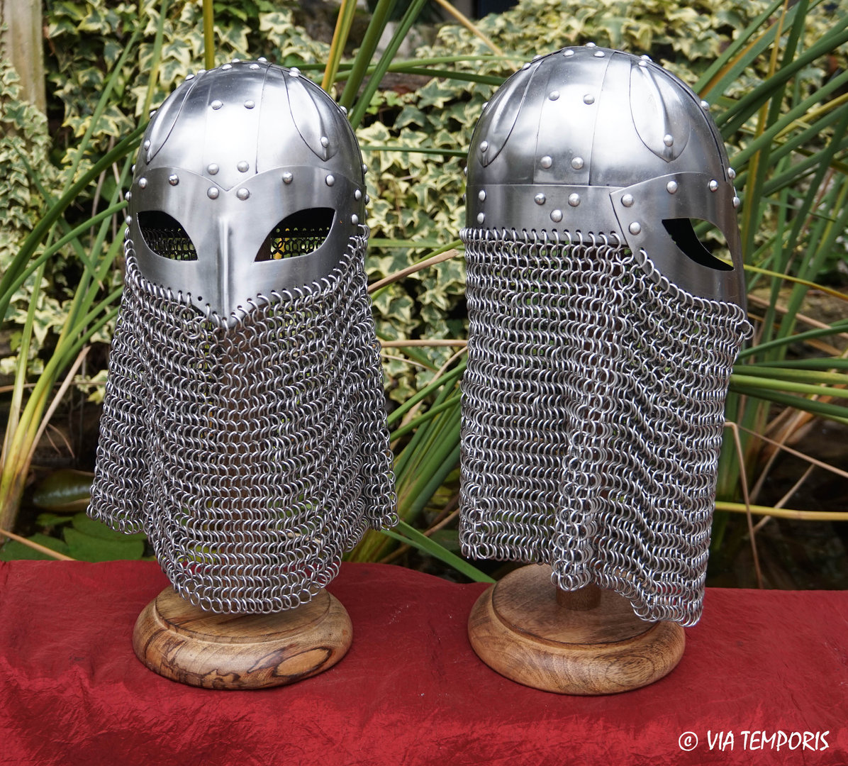 VIKING HELMET WITH EYE GUARD AND CHAINMAIL NECK PROTECTION FOR CHILDREN