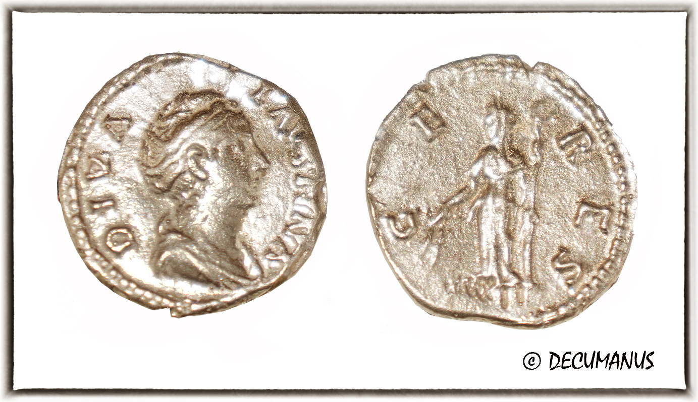 DENARIUS OF FAUSTINA WITH CERES - REPRODUCTION
