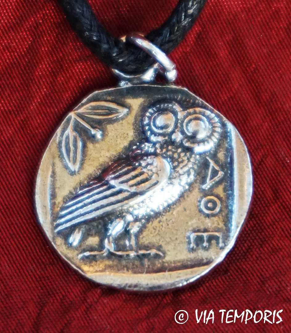 ANCIENT JEWERLY - ROMAN PENDANT WITH ATHENS COIN