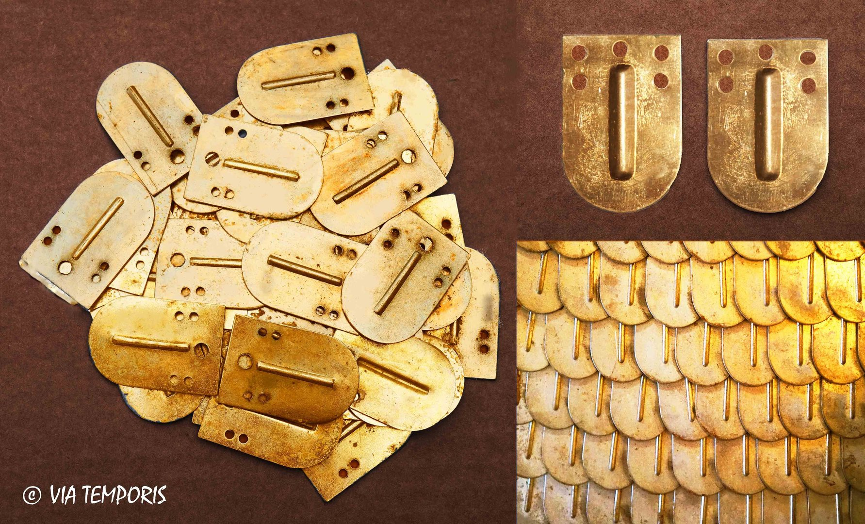 SCALE OF BRASS LORICA SQUAMATA (SET OF 10)
