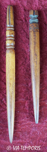 SIMPLE ROMAN BONE HAIRPIN OR STYLUS - LOT OF TWO