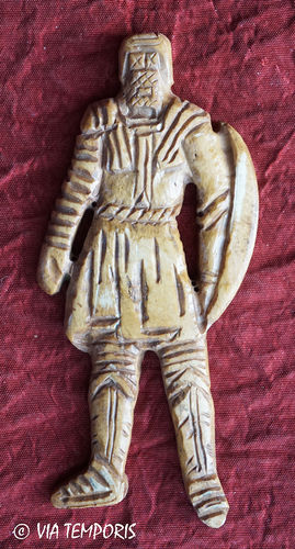 ROMAN BONE APPLIQUE - GLADIATOR WITH TUNIC