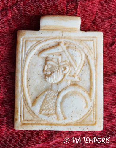 ROMAN BONE PENDANT - BUST OF GOD MARS