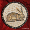 ROMAN MOSAIC - SMALL MEDALLION WITH A RABBIT