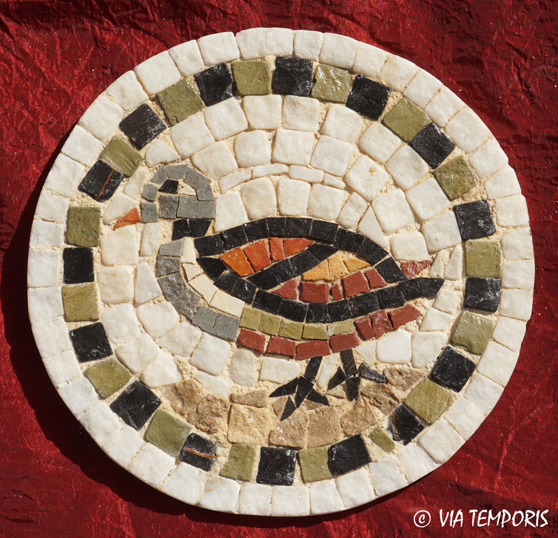 ROMAN MOSAIC - SMALL MEDALLION WITH A DUCK